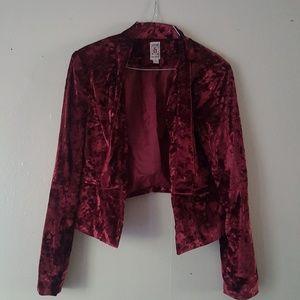 Jackets & Blazers - Decree red crush velvet jacket